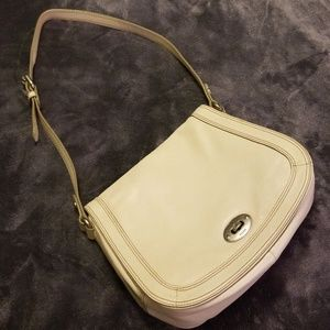 Fossil Purse Flap-over Style Cream